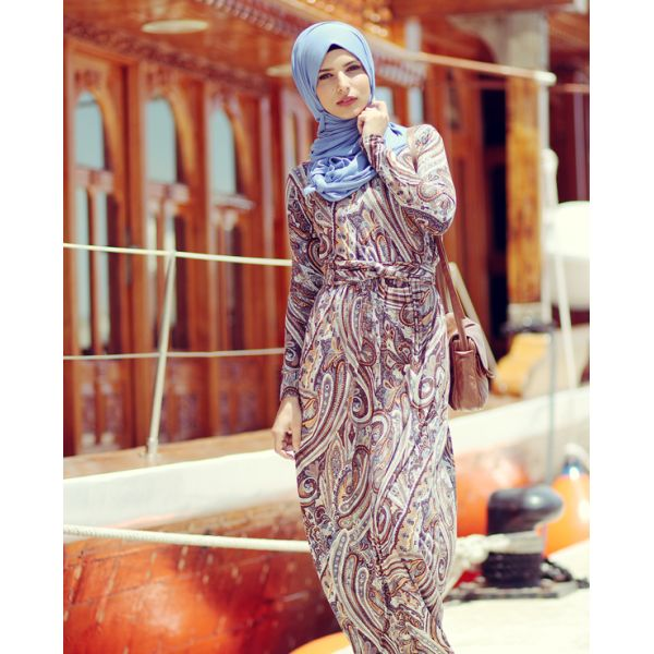Printed Dress - NS HIJABI ONLINE SHOP