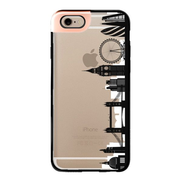 iPhone 6 Plus/6/5/5s/5c Metaluxe Case - London Skyline ($50) ❤ liked on Polyvore featuring accessories, tech accessories, phone, phone case, tech, iphone case, iphone cases, iphone cover case and apple iphone cases