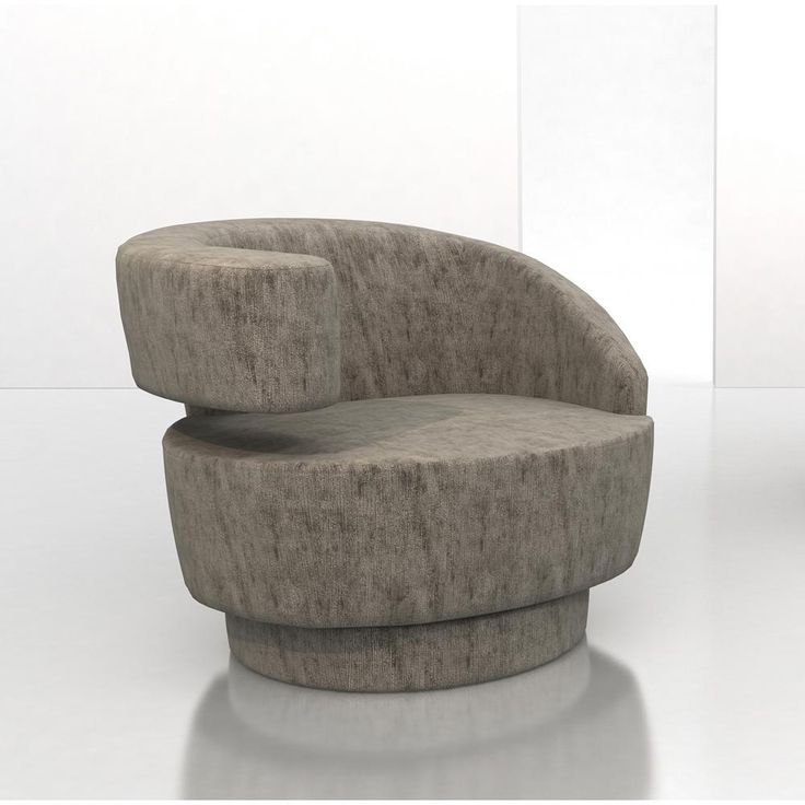 This Unique Swivel Chair Is Produced By Weiman Upholstery And Designed By  Vladimir Kagan