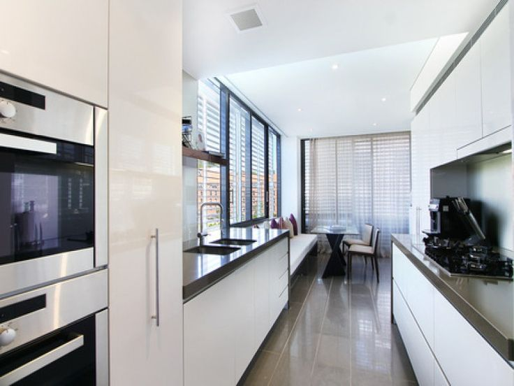 black and white galley