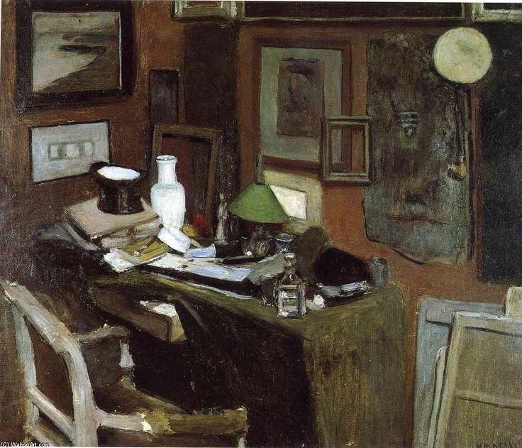 'innen mit a spitze hut', öl auf leinwand von Henri Matisse (1869-1954, France)