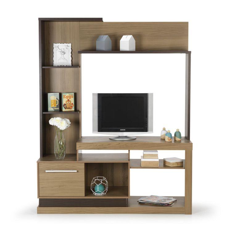 Living / meuble TV décor bois naturel - Lia meuble - Meubles télé-Meubles, Accessoires TV-Salon, Salle à manger-Par pièce - Décoration intérieur - Alinea