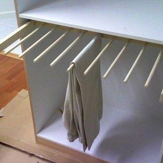 Sliding pants rack