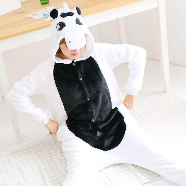 Winter Leopard Unicorn Pajamas Adult Flannel Cosplay Costumes Onesie Pajama Sets Cute Animme Party Costumes Christmas Pyjama