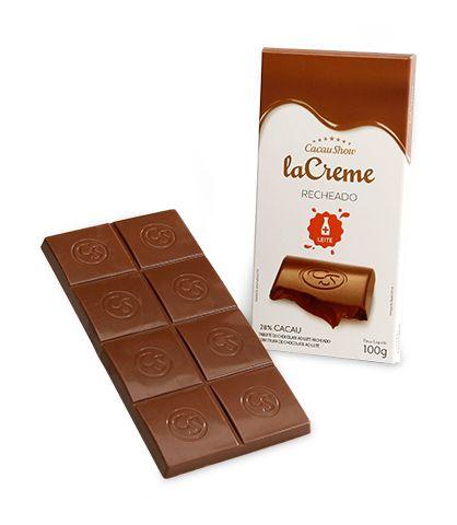 Tablete 100g La Creme Recheado Ao Leite | Cacau Show