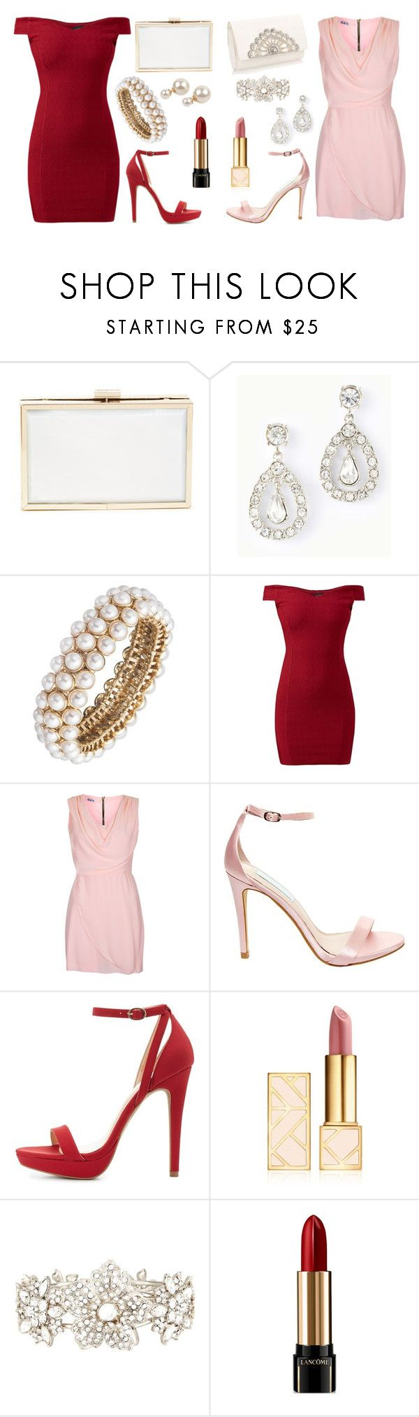 """""""Elegant"""" by fallingrainfromthesky ❤ liked on Polyvore featuring Ann Taylor, Anne Klein, WalG, Betsey Johnson, Wild Diva, Tory Burch, Nina, Lancôme and Armitage Avenue"""