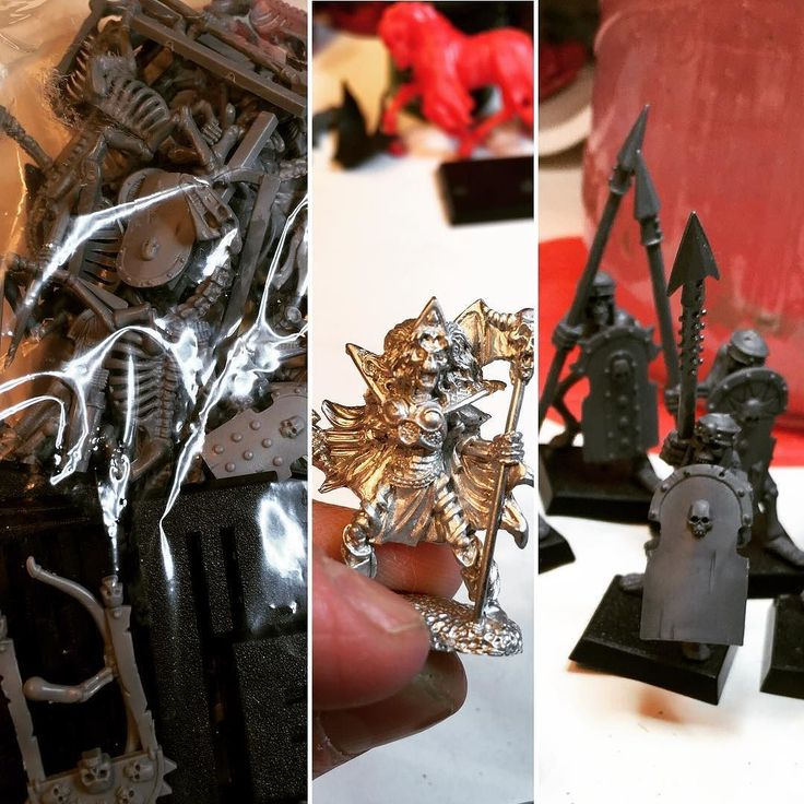 On instagram by knives_mcdougal #heroquest #microhobbit (o) http://ift.tt/2nNJwju when I thought it was time to stop painting skeletons... Tomb Kings!  Settra approved. I also bought that old white metal #reapermini Carnessa the Terrible as I think she will make s nice addition to my OOP Nightmare Legion. I mean undead lady skellie I had to right?  #wargaming #warband #warhammer #warhammerfantasy #warhammer8thedition #ageofsigmar #mordheim  #tombkings #roleplayinggame #dungeoncrawl #khemri…