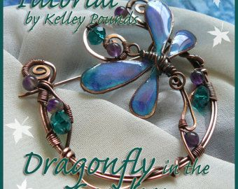 Handcrafted Resin Butterfly Charm Wire Wrapped by KellsCreations