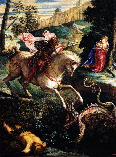 Jacopo Robusti il Tintoretto - San Giorgio e il drago
