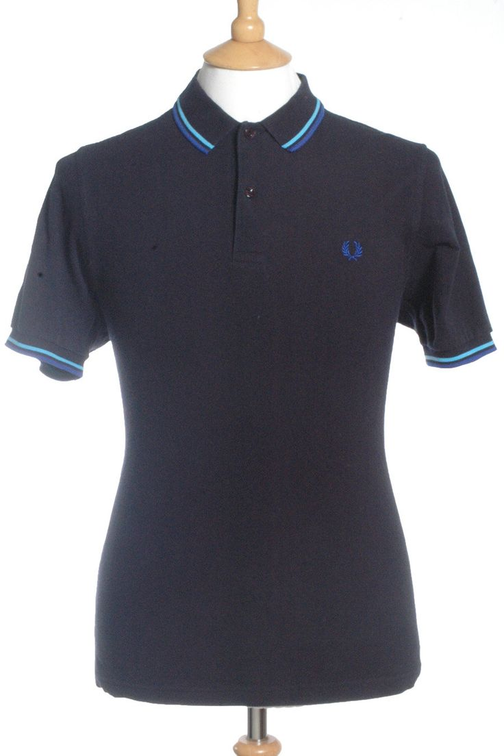 Vintage Fred Perry Navy Blue Polo Shirt S by BrickVintage on Etsy