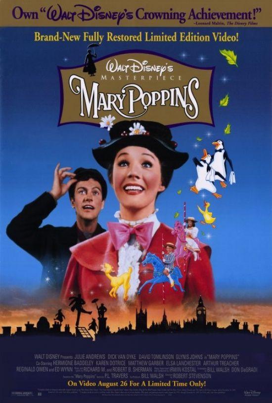 Mary Poppins Movie Poster Print 27 X 40 Item