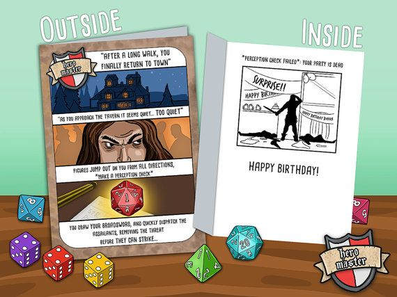 Nerd humour greetings cards. Geek humor fantasy by TheNobleArtist