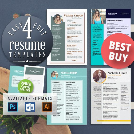 #Resume #Template #Creative Resume Design #Teacher Resume #Resume Style #Resume Design #Curriculum Vitae #CV #Resume Template #Resumes #Resume Format #Modern Resume #Word Resume FREE EDIT - 4 Resume Templates  2 FREE Cover Letter Templates Teacher Resume https://t.co/L9sjUVRnRH https://t.co/oTcyFzFwqm