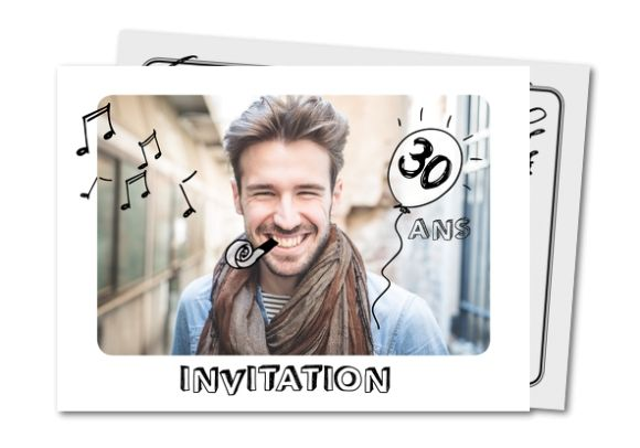 Carte d'anniversaire adulte 30 ans Planet-cards.com