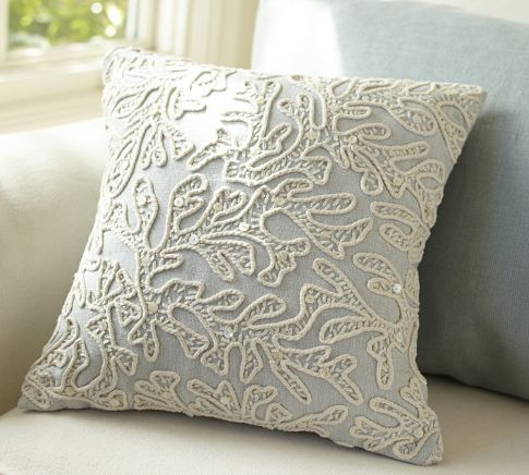 Throw Pillow Pottery Barn : All-Over Coral Decorative Pillow Pottery Barn Family Room Pinterest Decorative pillows ...