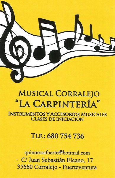 """MUSICAL CORRALEJO """"LA CARPINTERIA"""". Es la tienda de referencia para todos aquellos que quieran comprar instrumentos o accesorios musicales en Corralejo."""
