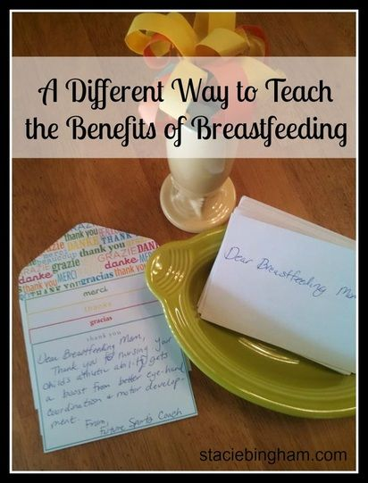 "I cannot even pretend this was my original idea. I got this from Linda J. Smith's book, Coach's Notebook: Games and Strategies for Lactation Education . In ""Who's Glad You're Breastfeeding,"" Smith..."