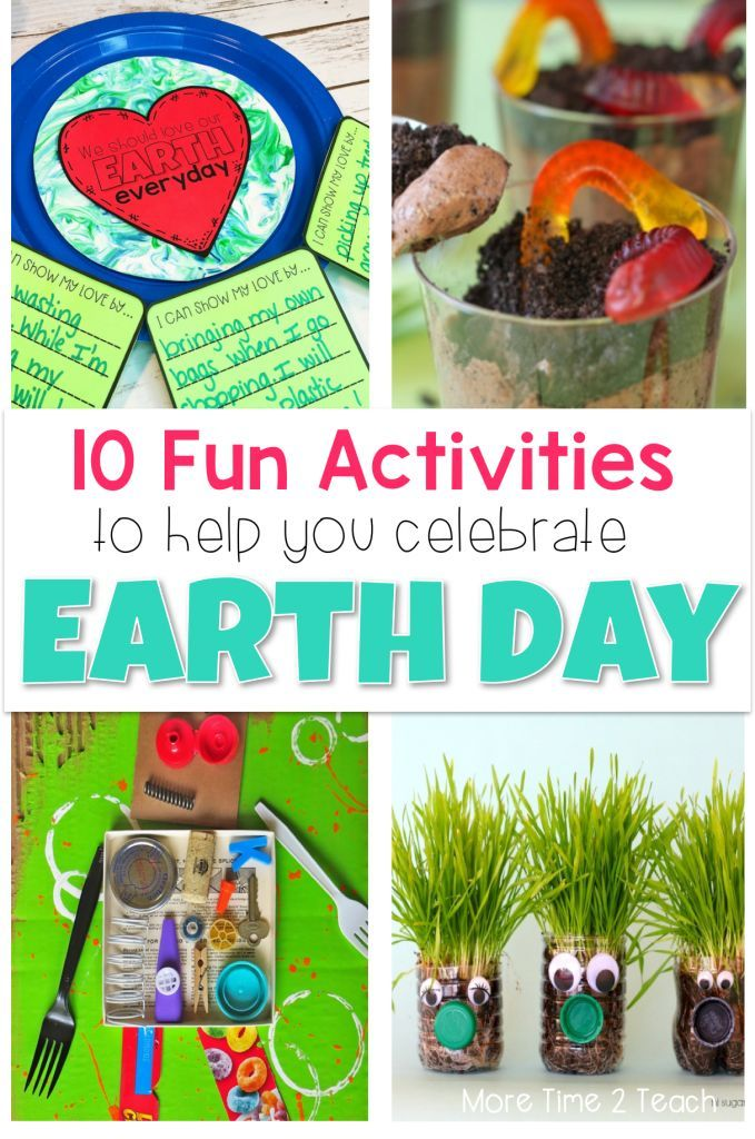 10 Fun Activities To Celebrate Earth Day In The Classroom Earth Day Projects Earth Day Activities Earth Day Crafts