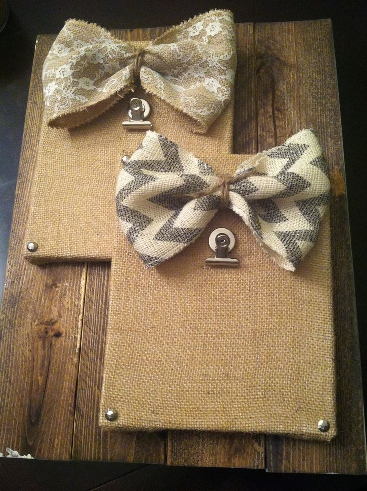 Shabby Chic Picture Holder made with Burlap Covered Canvas!