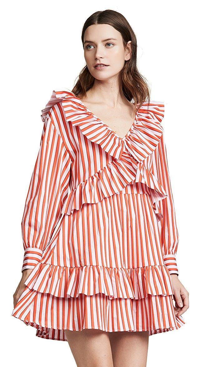 939aecbd356b Ruffle Stripe Poplin Dress in 2019