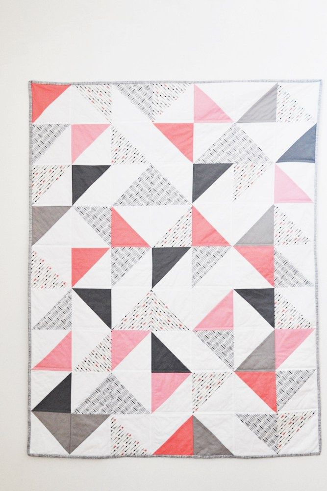 Triangle Baby Quilt Tutorial Sewing Pinterest Quilts Baby