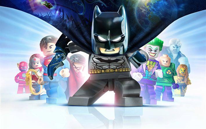 Descargar fondos de pantalla Lego Batman 3, más Allá de Gotham, el juego de Equipo, de caracteres