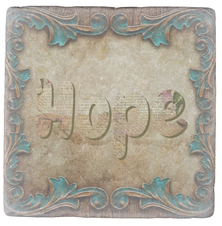 """""""Hope"""" is a powerfully aspirational word. It captures a feeling of expectation and desire. Hope is believing that something good may happen. This is a strong marble Coaster just ready to impart it's power into your glass of water. (Ref. Dr. Masaru Emoto's breakthrough work.)"""