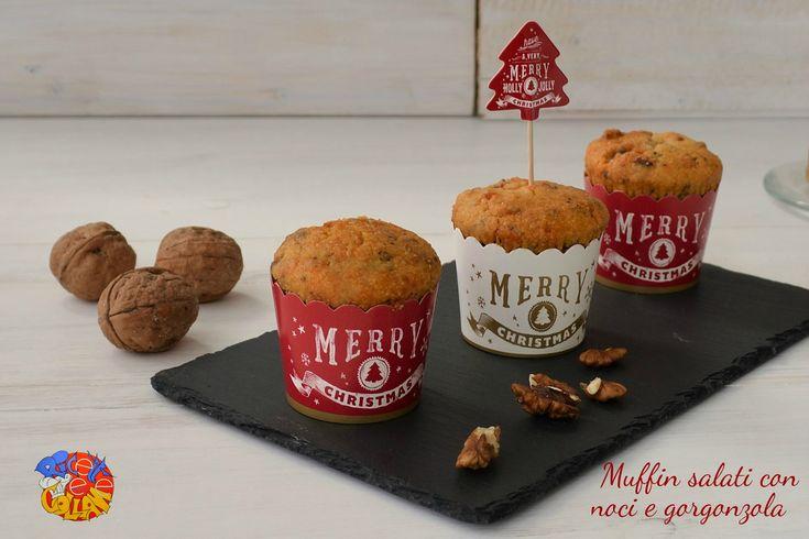 Muffin salati con noci e gorgonzola  https://blog.giallozafferano.it/ricettecollaneepassioni/muffin-salati-con-noci-e-gorgonzola/