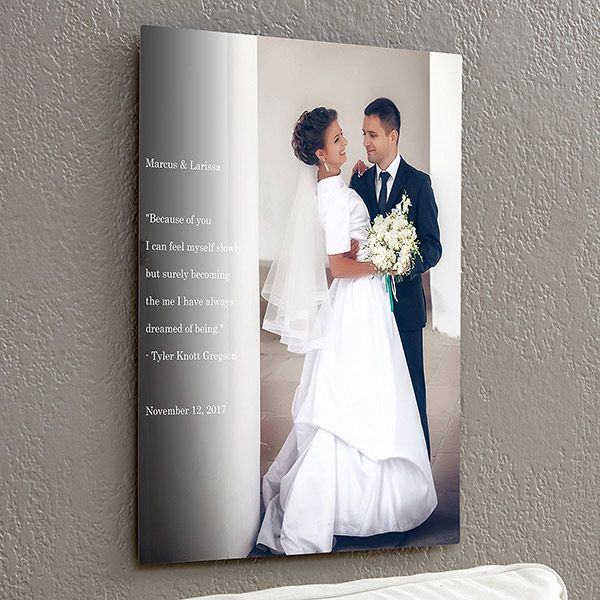 Personalized Wedding Sentiments Photo ChromoLuxe® Metal Panels