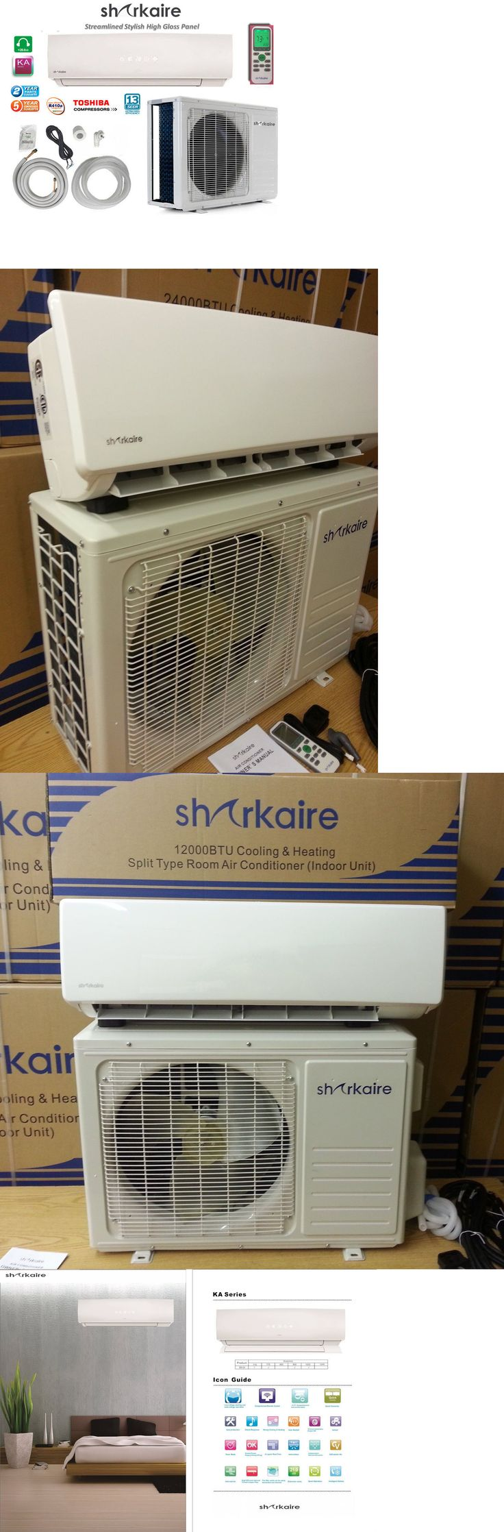 Air Conditioners 69202: Sharkaire 110 Volt 1 Ton Heat Pump Mini Split Air Conditioner Slim Ductless -> BUY IT NOW ONLY: $609.4 on eBay!