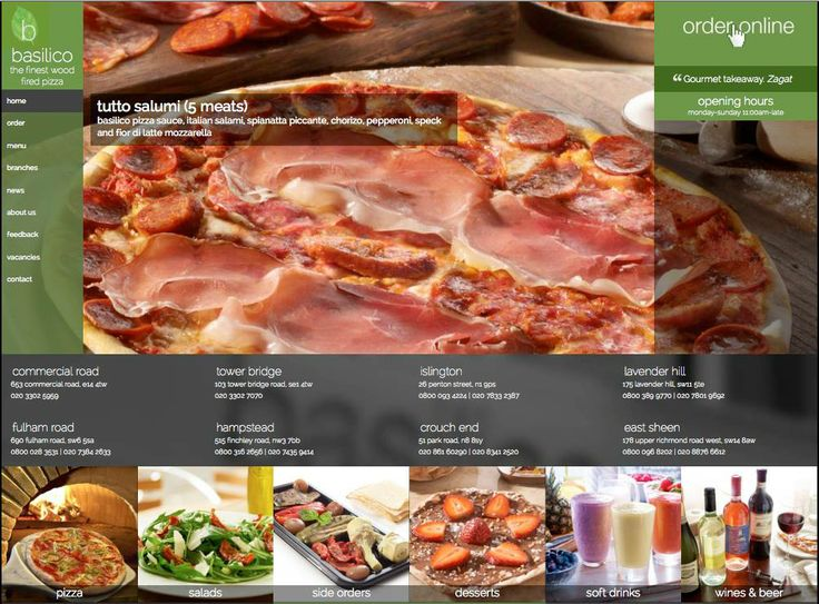 Site went live on 4th April 2014 - www.basilico.co.uk - excellent wood fired pizzas in London.