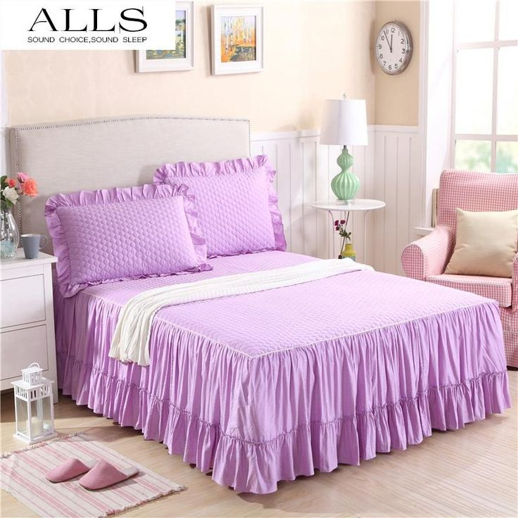 Lilac Quilted with Frill