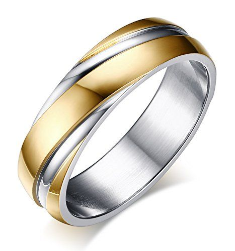 6mm Stainless Steel Wedding Bands Two-tone Grooves Engagement Rings for Men or Women Why choose Stainless steel Jewerly? Stainless steel has become an increasingly popular metal choice for fashion jewelry,Because of it's bright,silvery finish and its resistance to tarnish,Excellent...