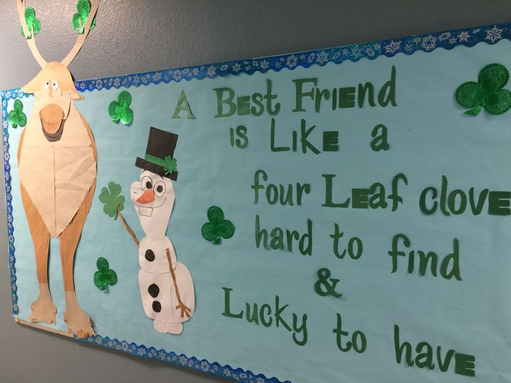 Frozen Sven and Olaf saint Patrick's day board