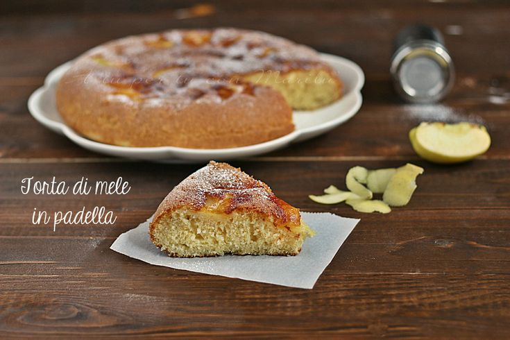 Torta+di+mele+sofficissima+in+padella