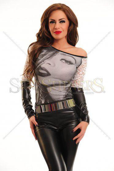 Bluza Mexton Lacy Arms Black
