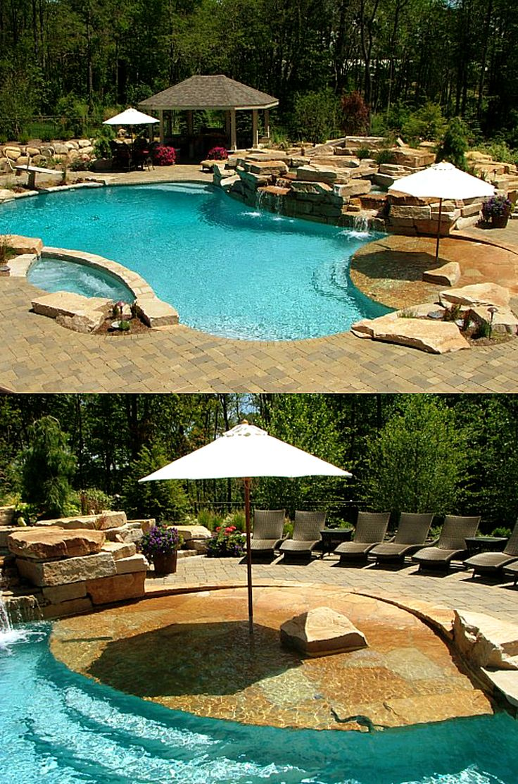 love pools with a beach entry