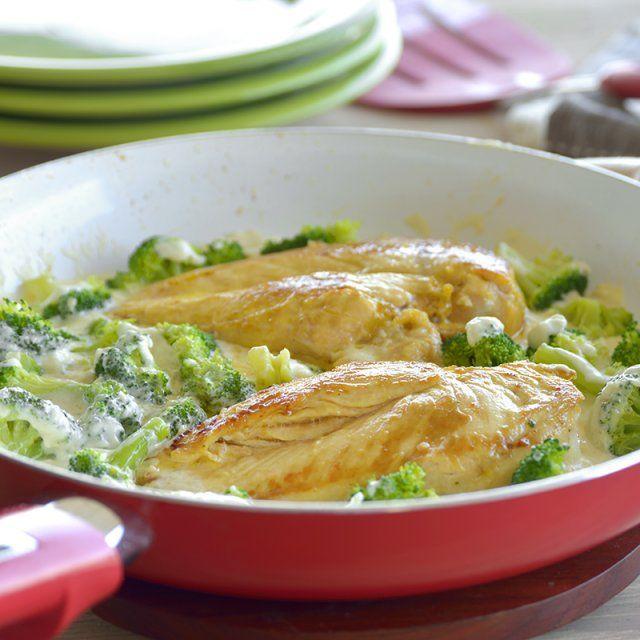 Pollo Alfredo con Brócoli   – recetas de pollo