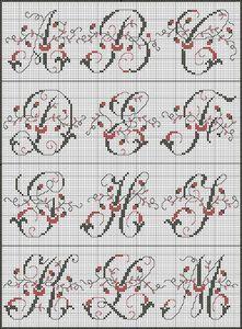 French cross stitch alphabet
