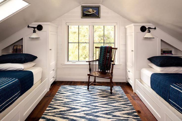 A dusty loft becomes a classic cottage bedroom # cottage # cottage bedroom # loft #one # one