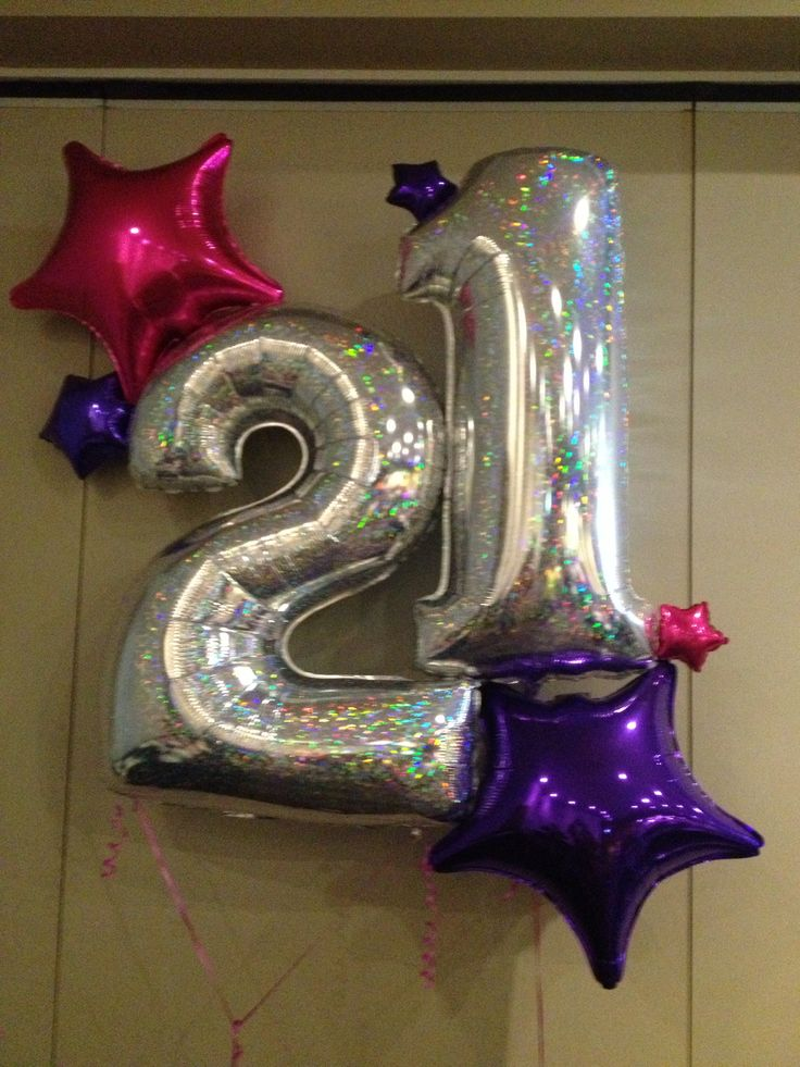 27 best images about 21st birthday party on pinterest for Balloon decoration on wall for birthday