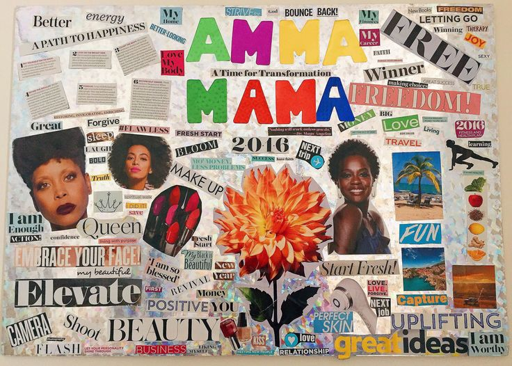 My vision board is complete! Blog post here: http://allthingsammamama.com/2015/12/my-first-vision-board/