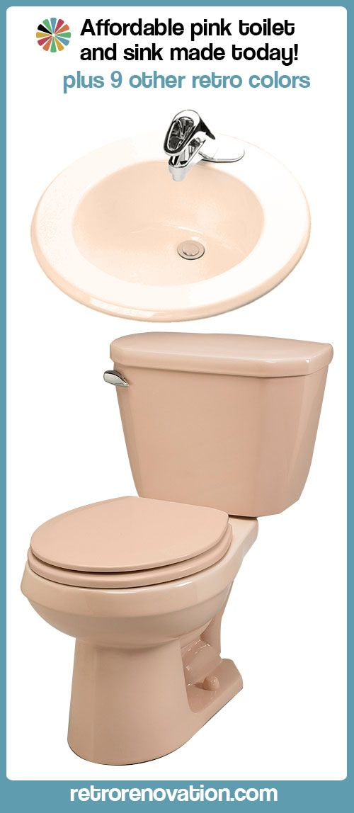 Pink toilet and bathroom sink still being manufactured for sale today — plus, nine other retro colors