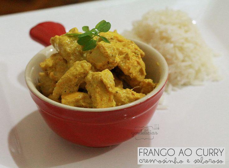 Frango ao Curry. Receita completa em http://gordelicias.biz