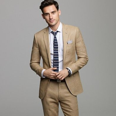 25  best ideas about Khaki suit groom on Pinterest | Grey beach ...