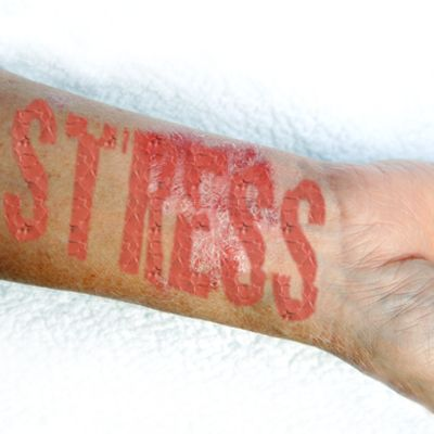 Ha! Learn to manage my stress with new relaxation techniques.You've had to many traumas in your life. Destress: Get your stress factors out of your life.  Is there a Rx for that?!