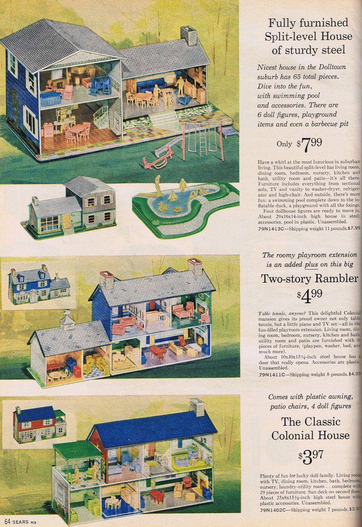 Metal doll houses - Sears,1964