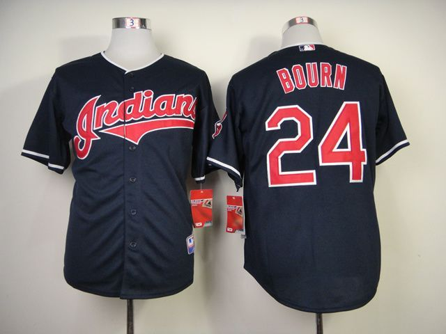 huge selection of 5c985 69dda MLB Cleveland Indians 24 Bourn Blue Jerseys,cheap mlb ...