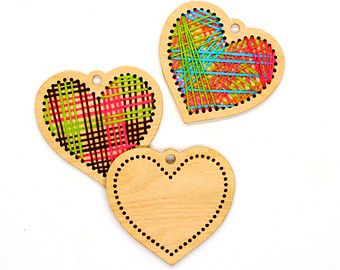 Wooden cross stitch blanks wooden blanks for by TinyLizardGifts