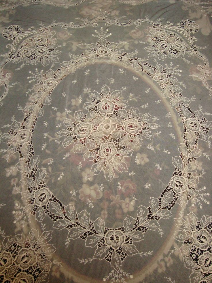 Tambour Lace Center Detail.  A piece from my personal collection.